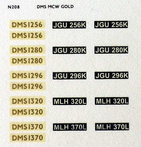 Gold DMS1256, DMS1280, DMS1296, DMS1320, DMS1370