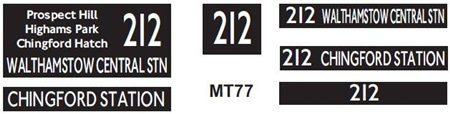 New M / T  Blinds Route 212