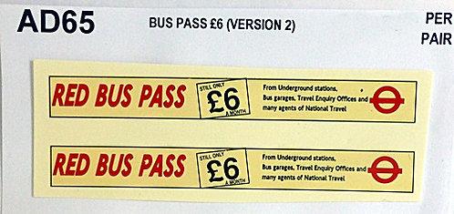 Bus Pass £6.00 (Version 2)