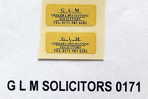 G L M Solicitors (0171)