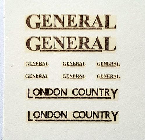 Fleet Names  GENERAL