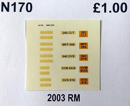 White RM29, RM548, RM1280, RM1312, RM1640