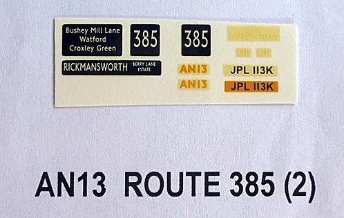 AN Route 385 (Rickmansworth - AN13)