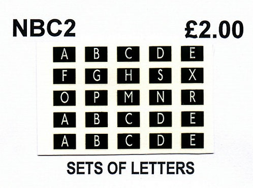 SETS OF LETTERS