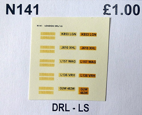 White DRL53, DRL10, DRL157, DRL136, LS482