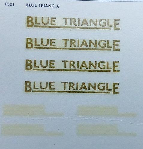 Fleet Name Sets  Blue Triangle