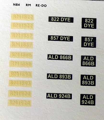 White RM1822, RM1857, RM1866, RM1893, RM1924