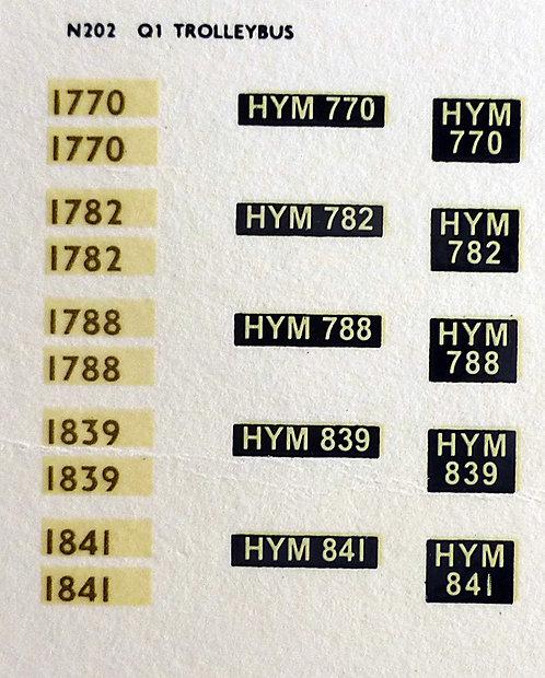 Gold Trolleybus 1770, 1782, 1788,1839, 1841