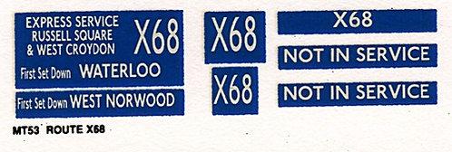 M / T Route X68
