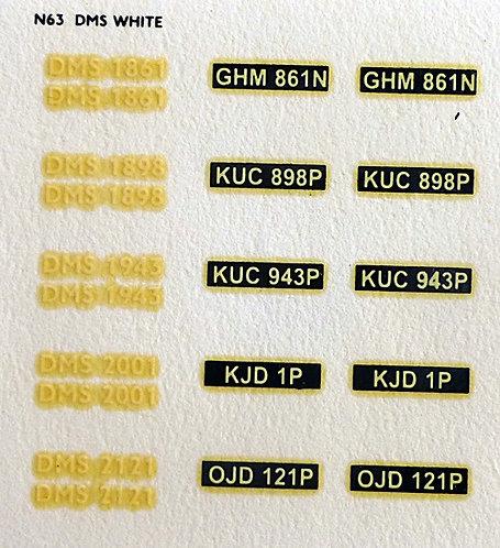White DMS1861, DMS1898, DMS1943, DMS2001, DMS2121