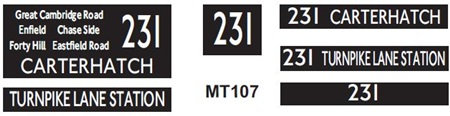 New M / T  Blinds Route 231