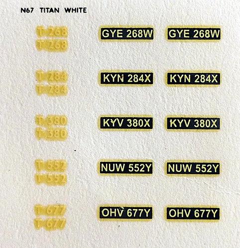White T268, T284, T380, T552, T677