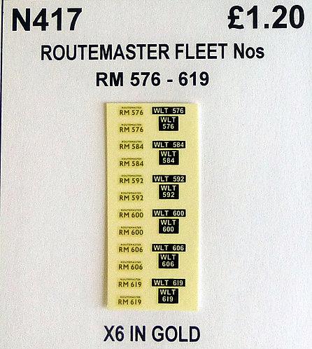 Gold RM 576, 584, 592, 600, 606, 619