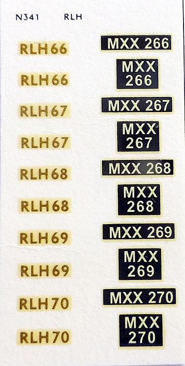 Gold RLH66, RLH67, RLH68, RLH69, RLH70