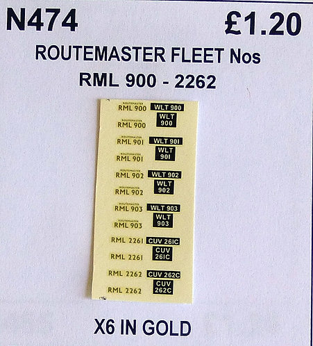 Gold RML 900, 901, 902, 903, 2261, 2262, 2263