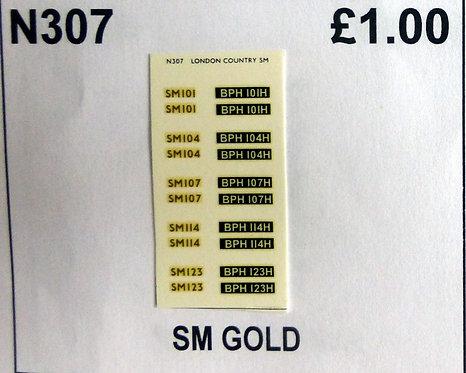 Gold SM101, SN104, SM107, SM114, SM123