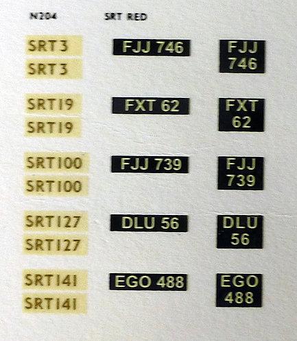 Gold SRT3, SRT19, SRT100, SRT127, SRT141