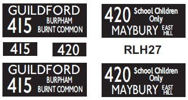 NEW RLH Blinds Routes 415/420