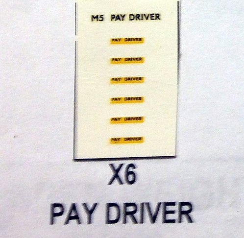 Misc:  Pay Driver