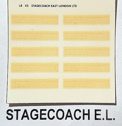 Legal Lettering  Stagecoach