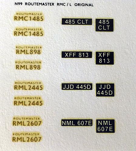 Gold RMC1485, RML898, RML2445, RML2607