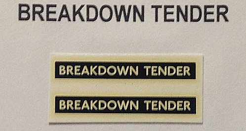 Breakdown Tender