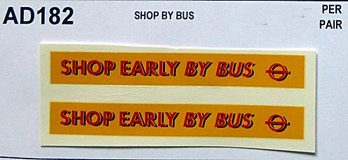 Shop Early By Bus
