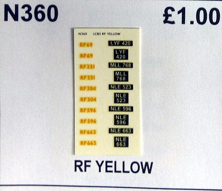 Yellow RF69, RF231, RF304, RF396, RF663