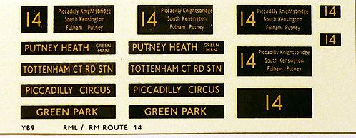 Modern RM/RML  Route 14