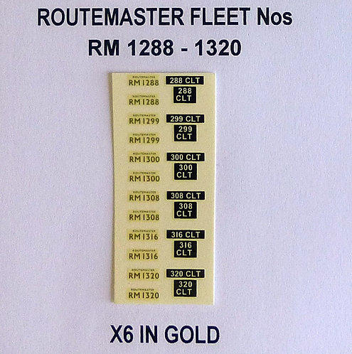 Gold RM 1288, 1299, 1300, 1308, 1316, 1320