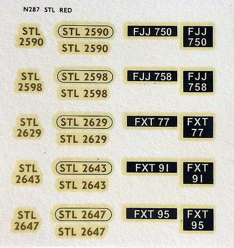 Gold STL2590, STL2598, STL2629, STL2643, STL2647