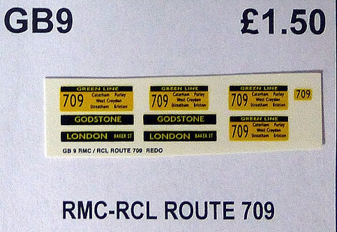 RMC/RCL Green Line Blinds Route 709