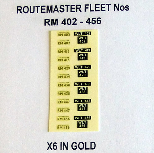 Gold RM 402, 413, 429, 438, 447, 456