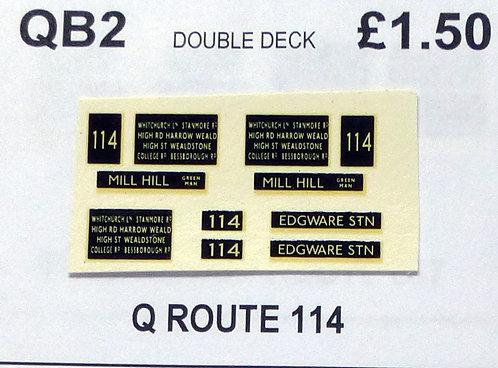 Q D/D Route 114