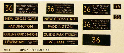 Modern RM/RML  Route 36