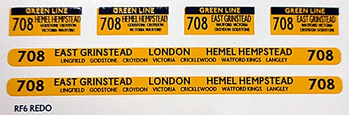 Green Line RF Route 708 (1960-70's)