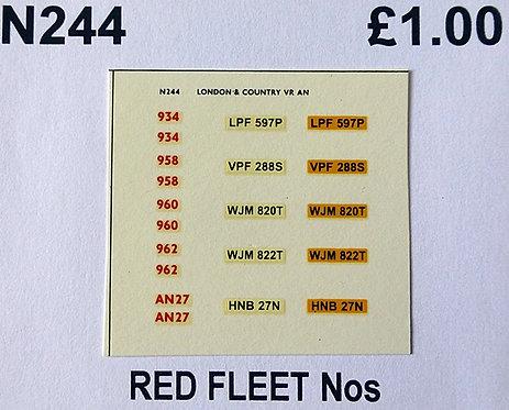 Red 934, 958, 960, 962, AN27