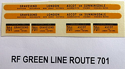 Green Line RF Route 701 (1960-70's)