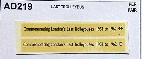 Last Trolleybuses