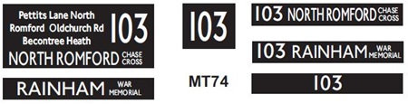 New M / T  Blinds Route 103