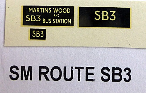 SM / SMS Route SB3