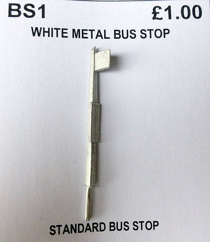 White Metal Bus Stop