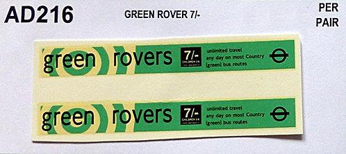 Green Rover 7/-