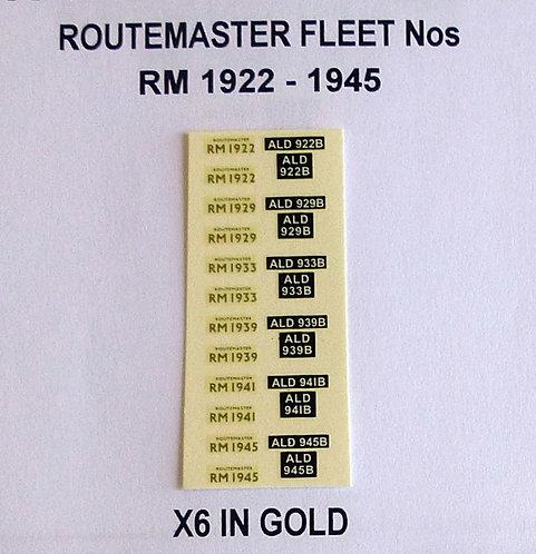 Gold RM 1922, 1929, 1933, 1939, 1941, 1945