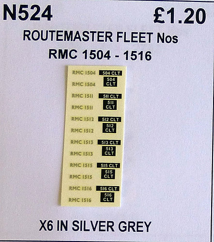 Silver RMC 1504, 1511, 1512, 1513, 1515, 1516