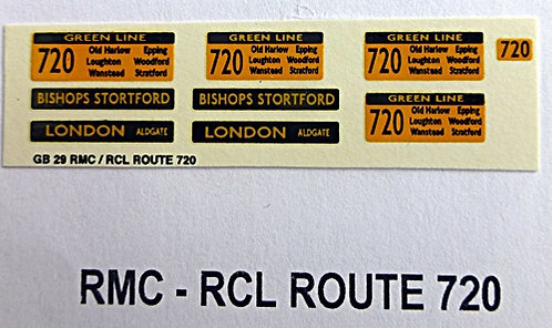 RMC/RCL Green Line Blinds Route 720