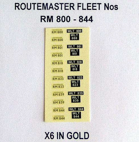 Gold RM 800, 801, 818, 823, 839, 844
