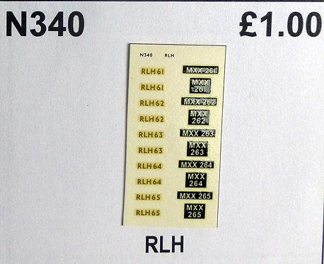Gold RLH61, RLH62, RLH63, RLH64, RLH65