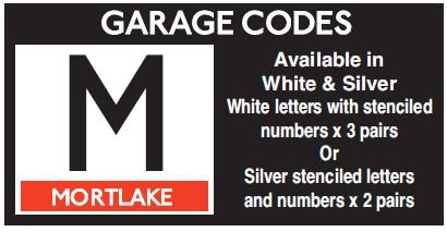 M In Sliver Or White