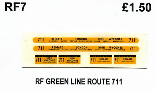 Green Line RF Route 711 (1960-70's)